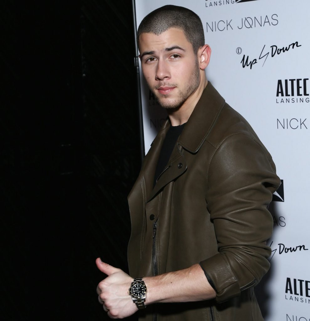 Nick Jonas sporting his new two-tone Rolex Submariner ref. 116613