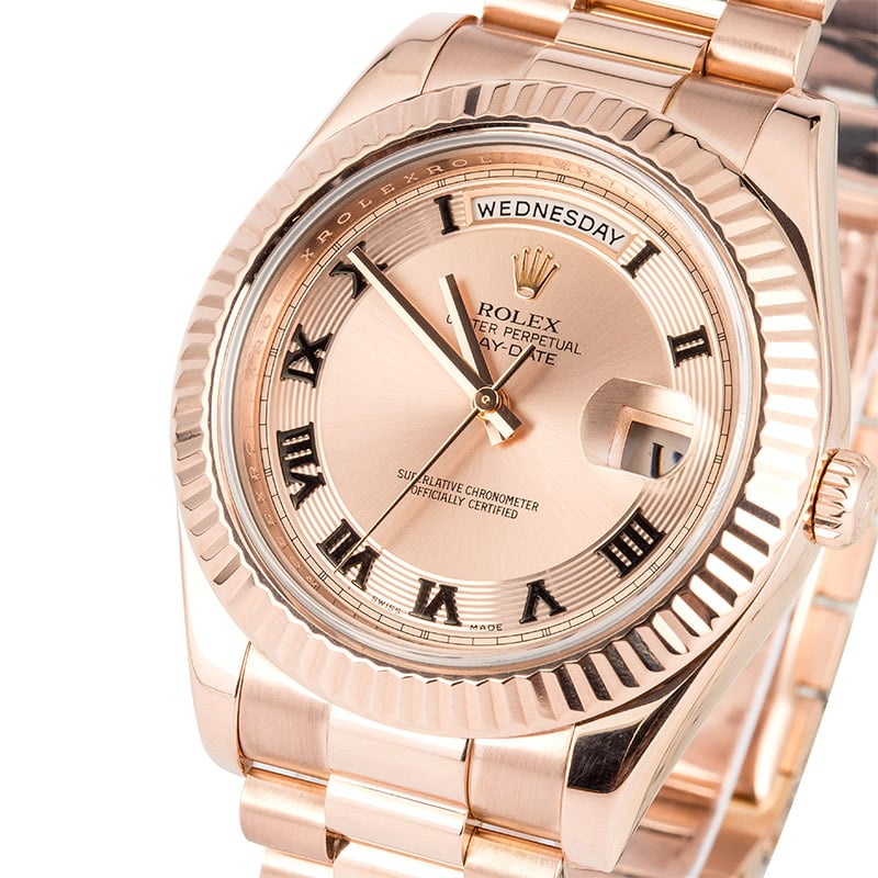 Rolex-Day-Date-II-President-Everose-pink-Gold
