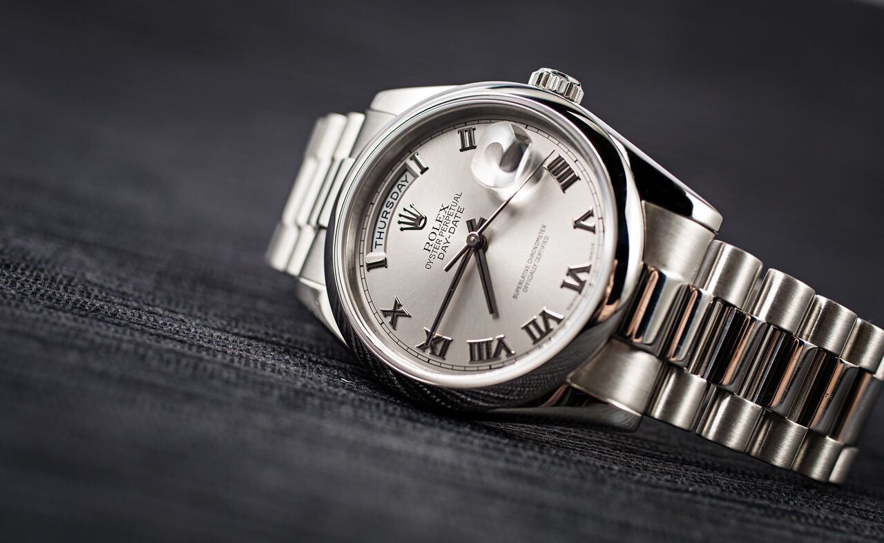 Rolex Day Date President ref. 118206 in platinum