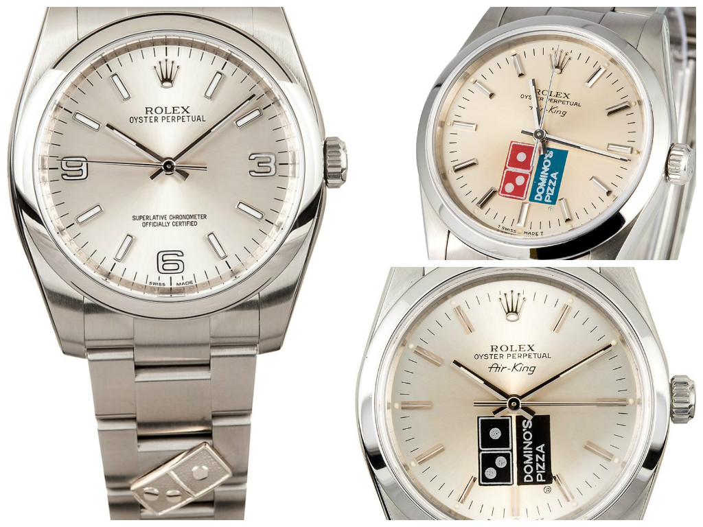 A few of the Rolex models commissioned by Domino's- Bob's Watches