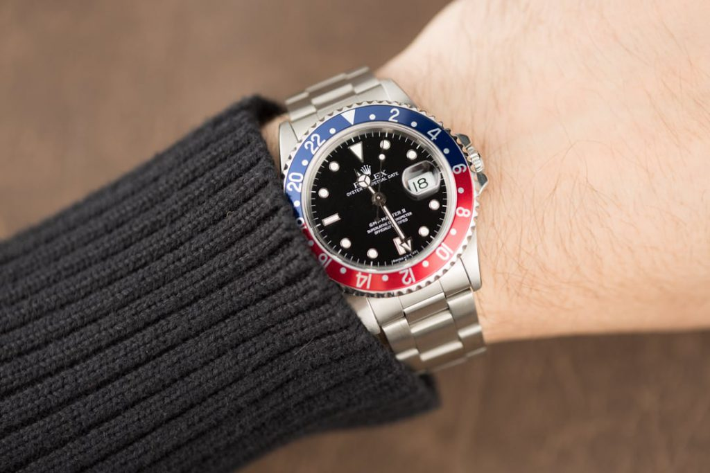 Stainless Steel GMT Master II Pepsi