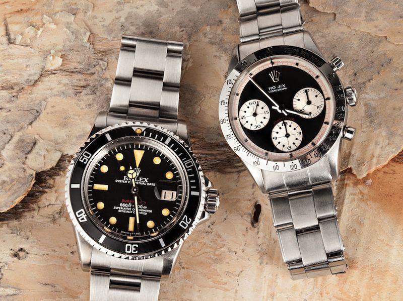 Rolex Red Submariner 1680 & Rolex Daytona Paul Newman 6239