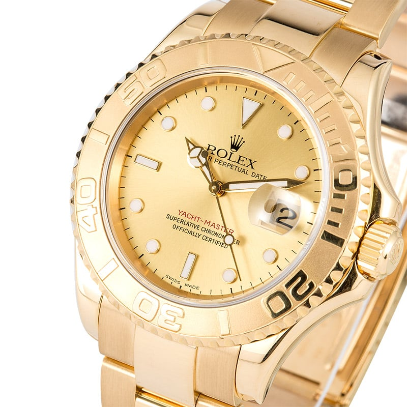 Rolex Yacht-Master ref. 16628 with champagne dial