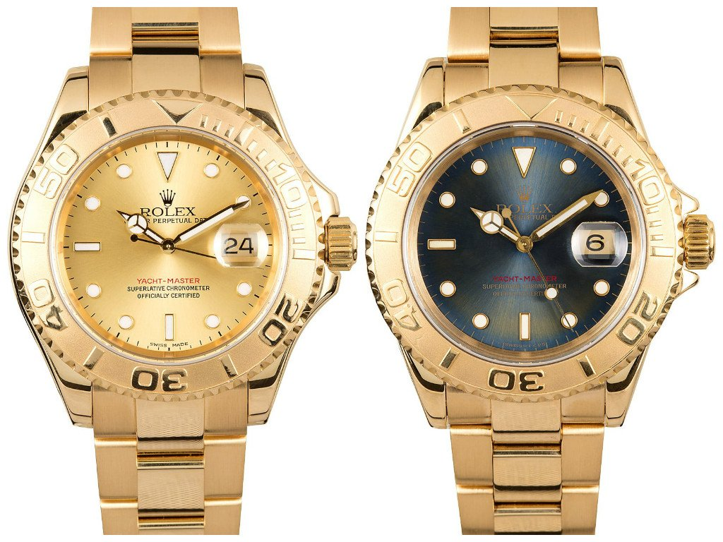 b0dce3624f2 A Pair Of Gold Rolex Yacht-Masters Making Serious Waves