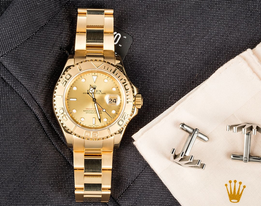 Rolex Yacht-Master 16628 with a champagne dial