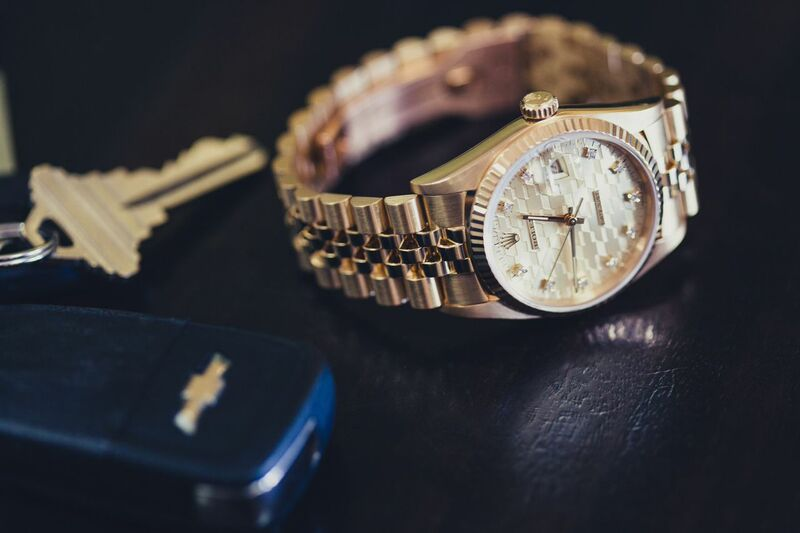 Yellow Gold Rolex Datejust-16018 Chevy Anniversary- Bob's Watches
