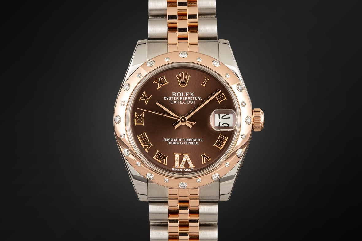 Rolesor Datejust 31 178341 Everose Rolesor DImaond Bezel