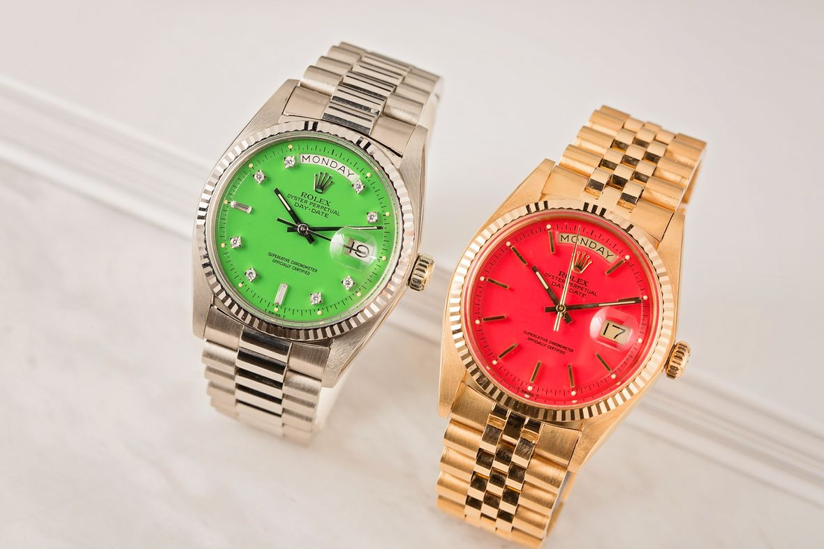 Vintage Rolex Stella Dial Day-Date Watches