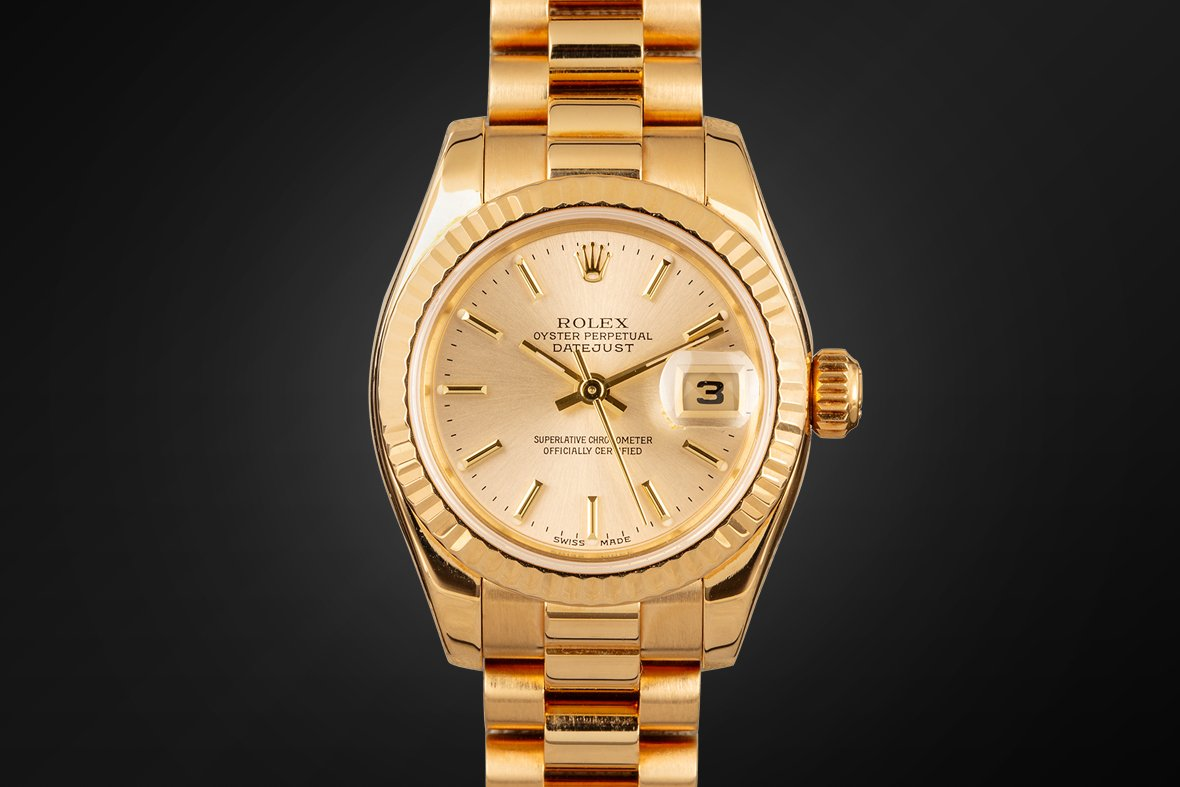 Rolex Lady President 179178 Yellow Gold Fluted Bezel