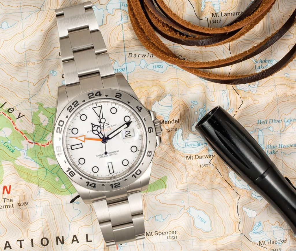 A Rolex Explorer II ref. 216570 is a watch Prince Harry has been seen wearing