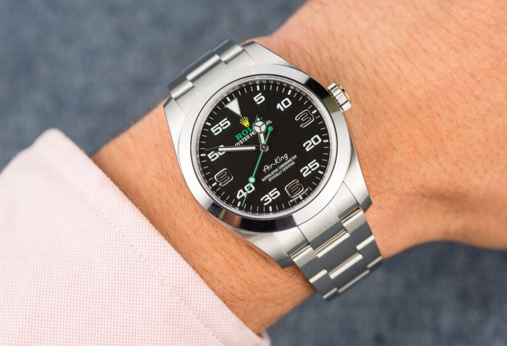 12 shots of the new air king to get you on board bob 39 s watches for Rolex air king