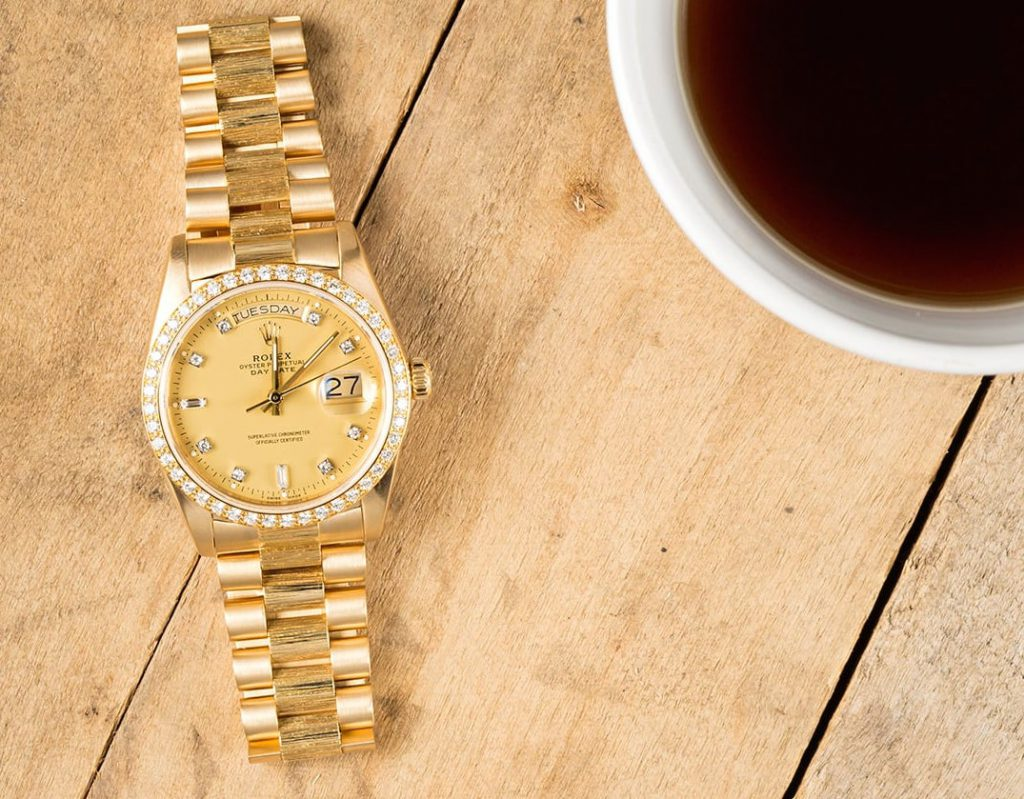Rolex Day-Date President ref. 18078 with bark accents