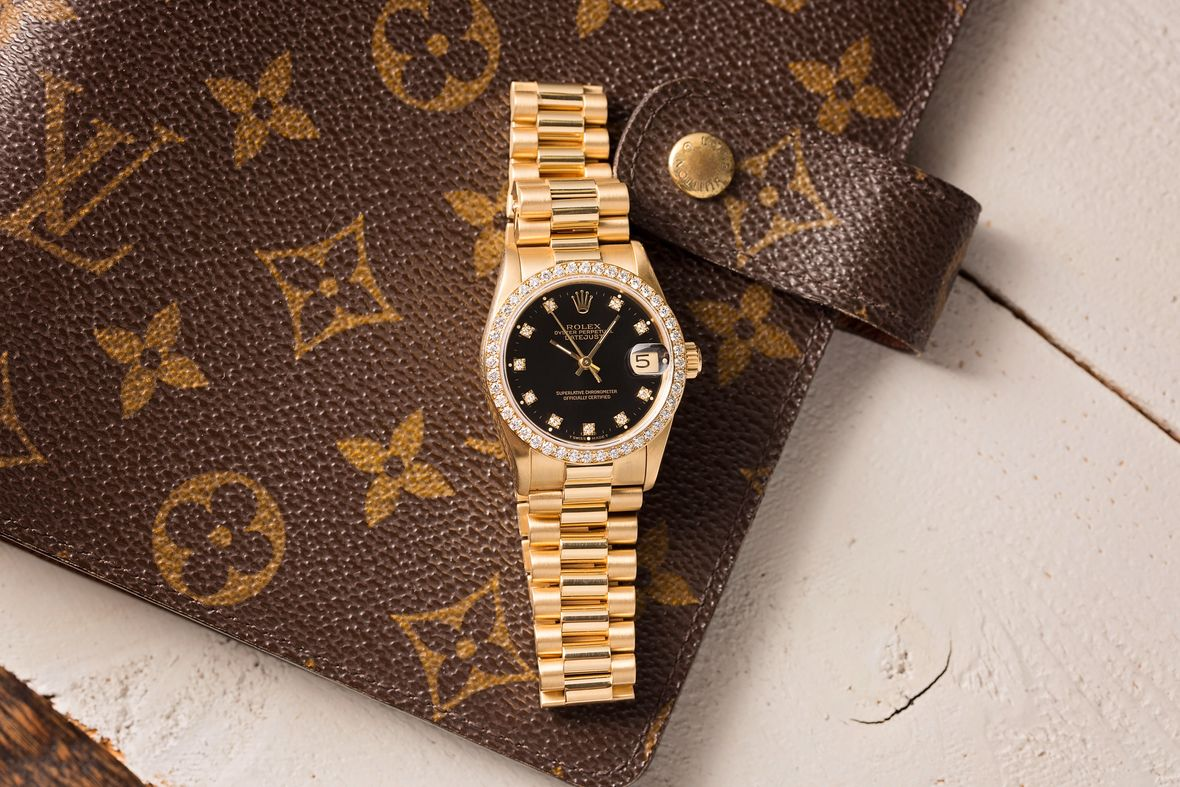 Rolex Lady-Datejust President Diamond Bezel