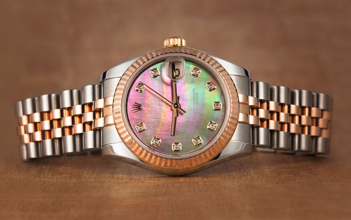 Rolex Lady-Datejust Mother of Pearl Dial Everose Gold Diamond Markers