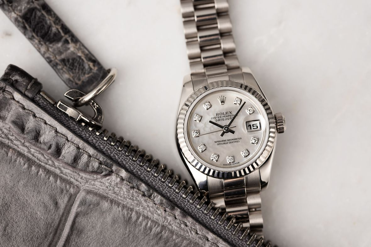 Rolex Lady President Datejust White Gold Diamond Dial