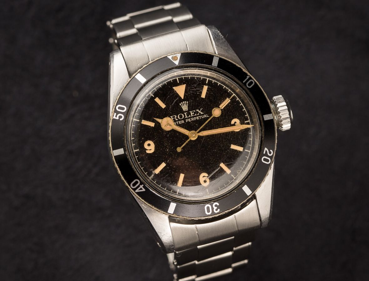 Vintage Rolex Submariner 6200 Explorer Dial