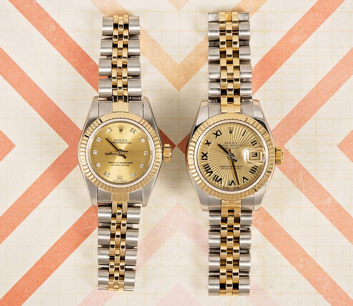 Rolex Lady-Datejust Watches Rolesor Two-Tone Steel and Gold