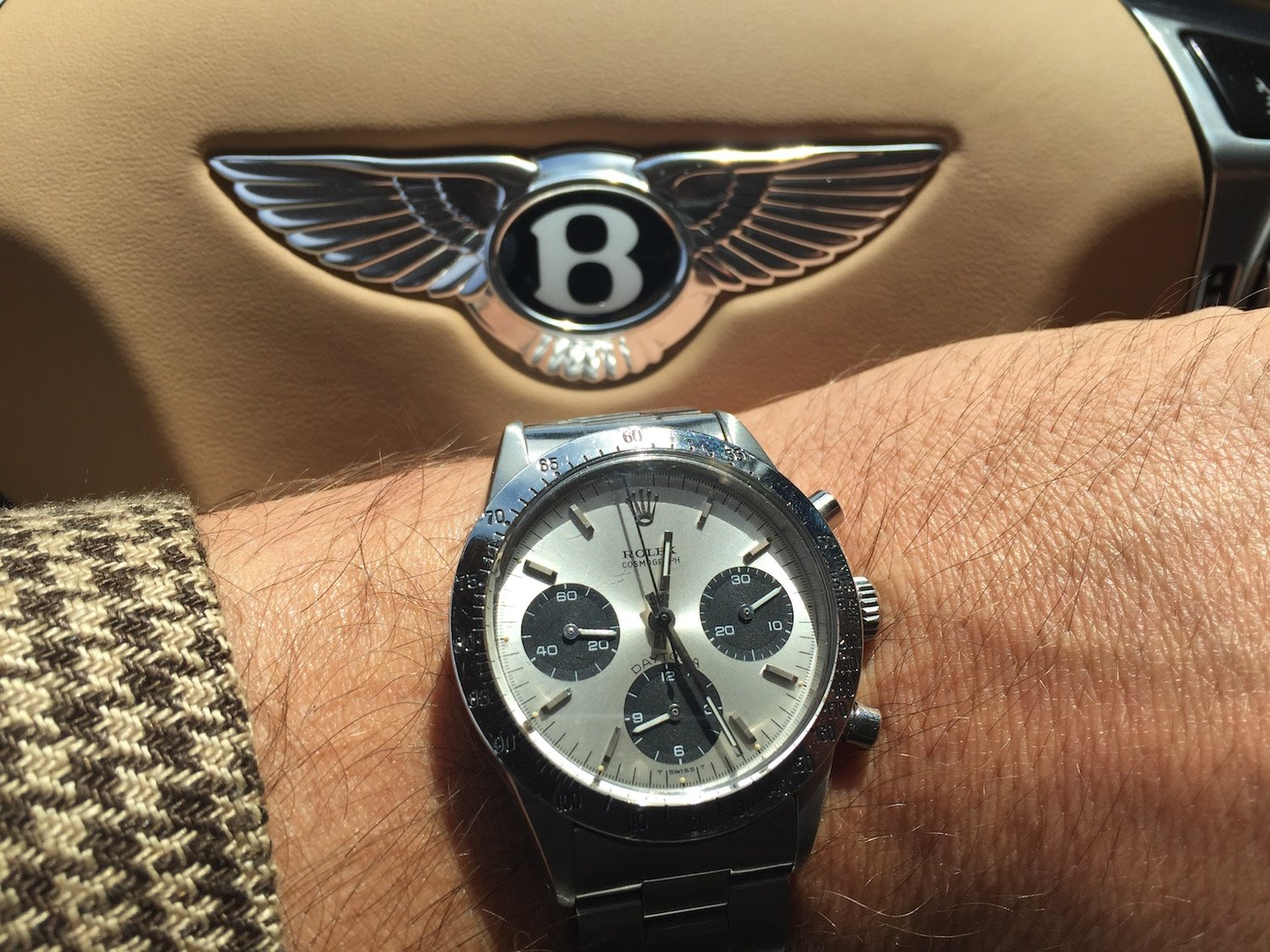 bentley rolex daytona vintage