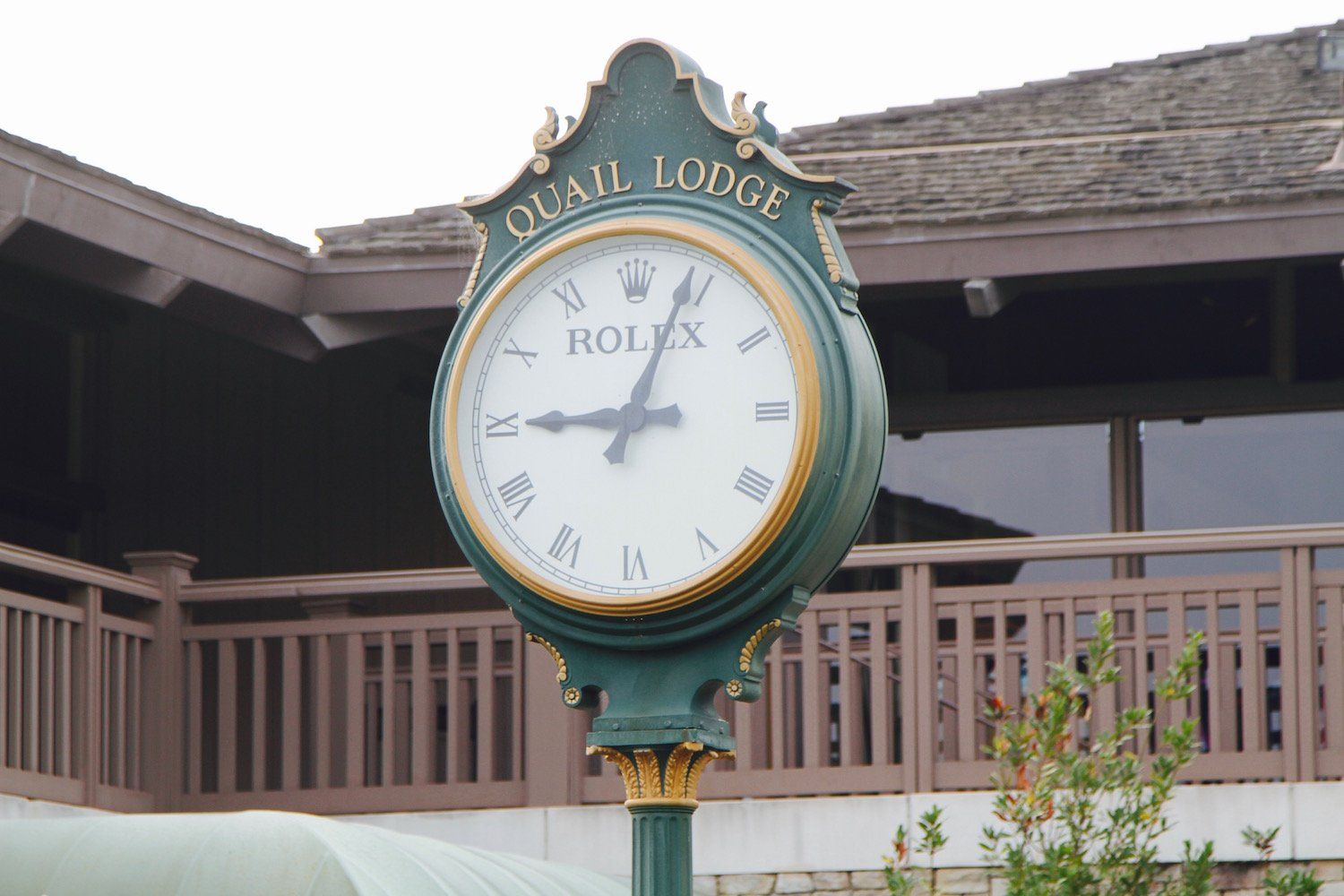 rolex clock pebble beach