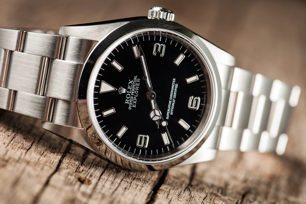 Rolex Explorer with a black dial makes a great watch for any adventurer.