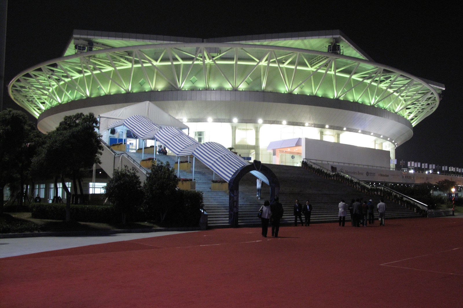 Qizhong Stadium where the Shanghai Rolex Masters takes place