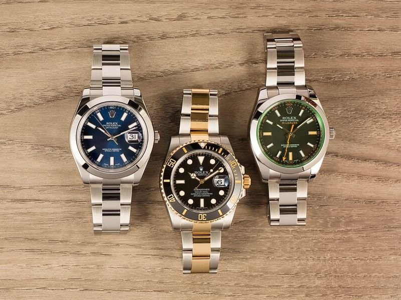 Rolex Datejust, Submariner, and Milgauss
