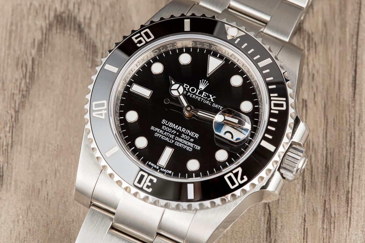 best prices on rolex submariner watches at bob s. Black Bedroom Furniture Sets. Home Design Ideas