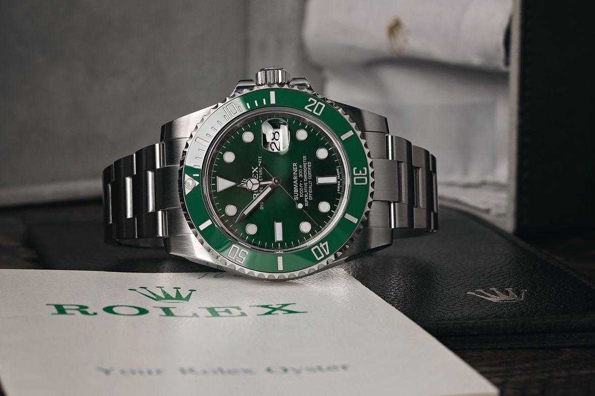 Green Rolex Submariner Hulk 116610LV Stainless Steel