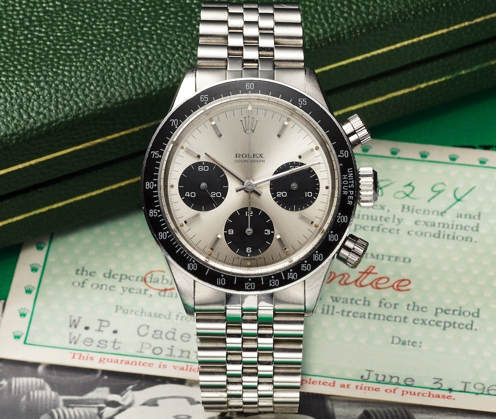How a watch auction works Rolex Daytona vintage cosmograph