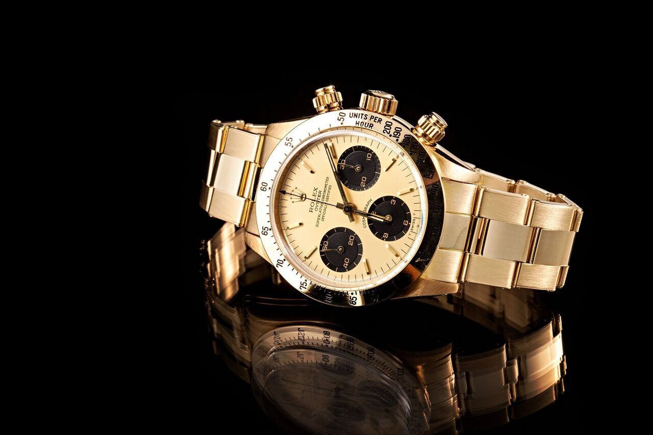A Golden Rolex such as this Daytona is sure to sell at a high price.