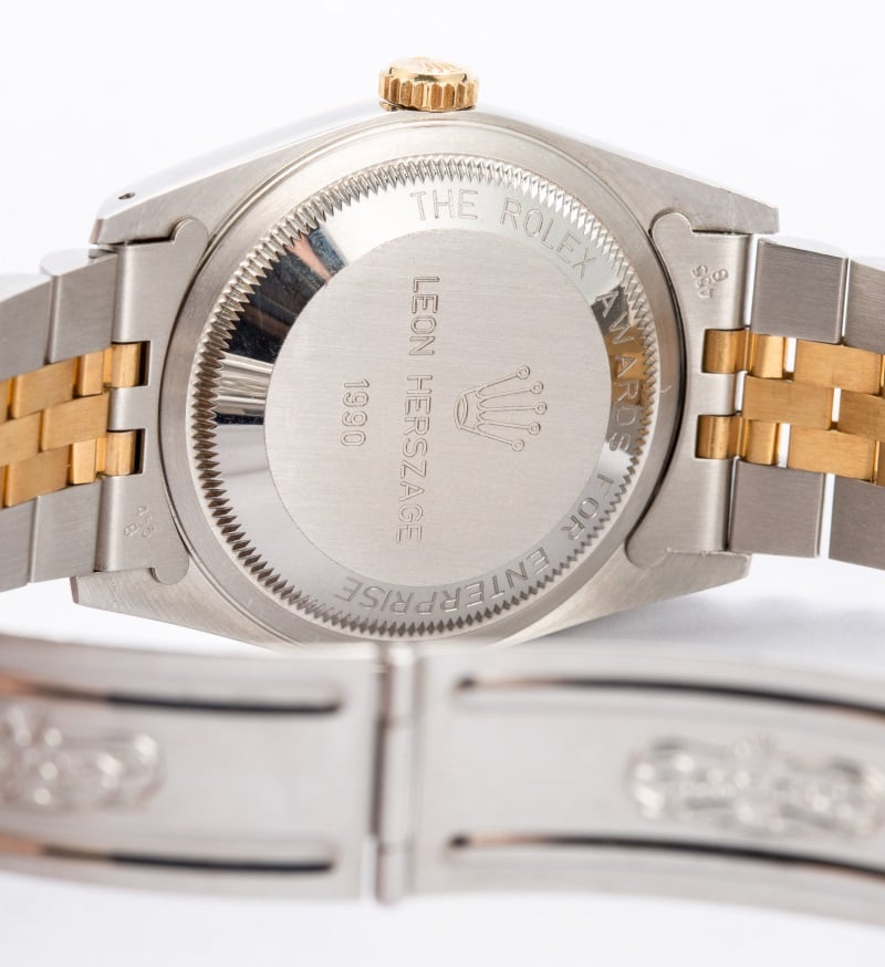 Rolex Award Watch - Datejust 16233 Two Tone