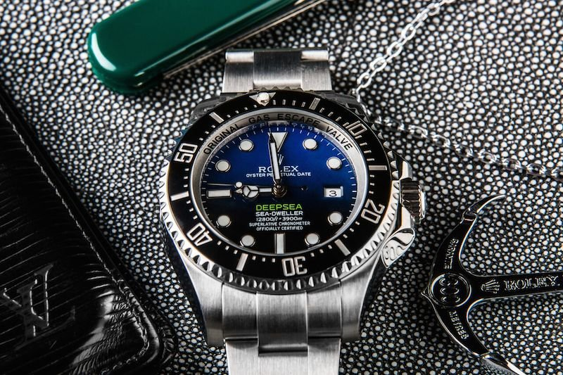 The unique dial on the DeepSea D-blue has a reasons, learn more at Bob's Watches.