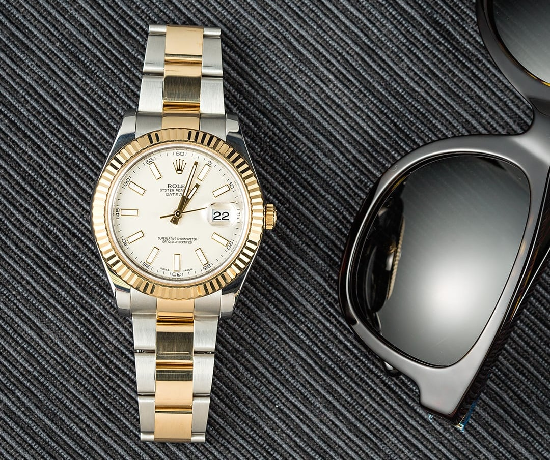 An equestrian athlete will often talk about the love of a Rolex Datejust.