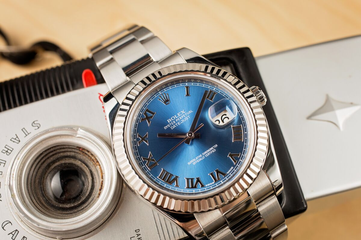 Blue Dial Datejust with Roman Numerals