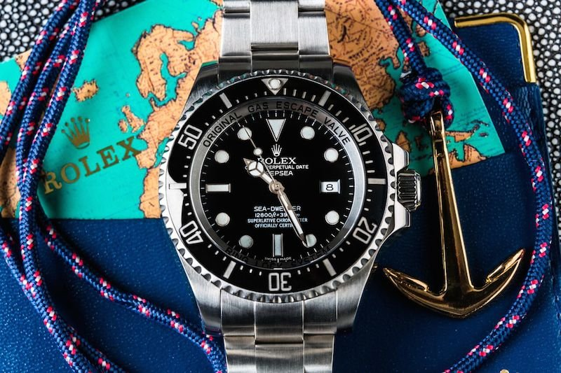"The Rolex Sea Dweller Red Prototype is similar, but it comes with a red ""Sea-Dweller"""