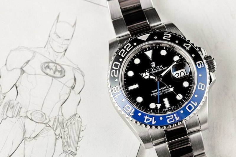 A Batman got its name for its black and blue bezel.