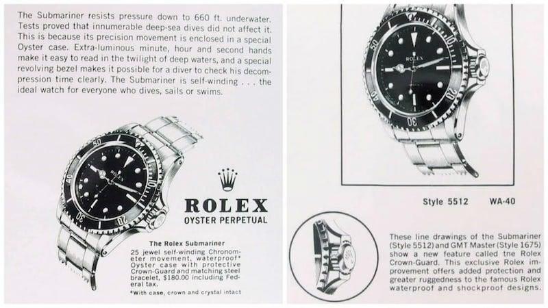 Vintage Rolex Submariner 5512 ad