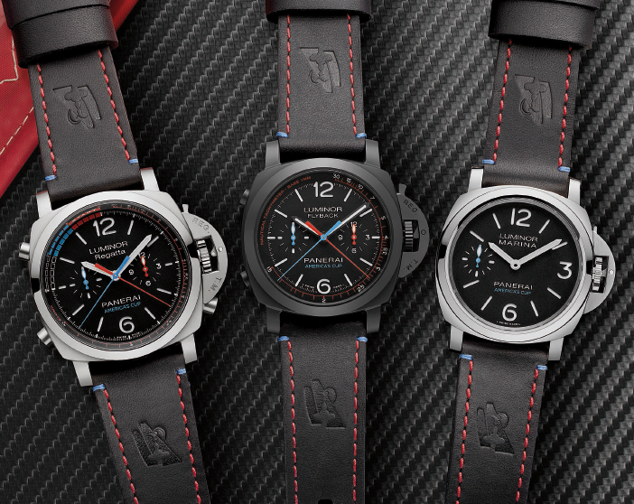 Panerai rolls out the updated Regatta, Flyback, and Marina models at the 35th America's Cup