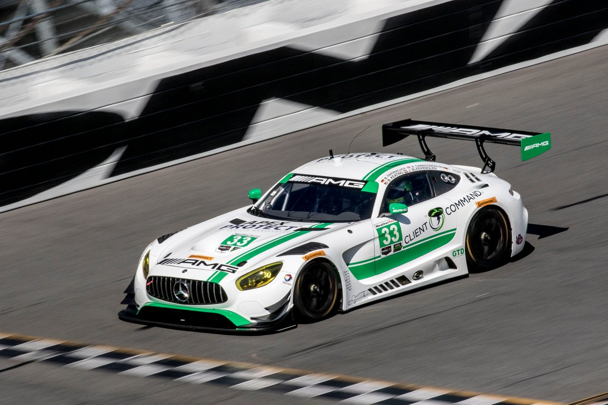 AMG-Team Riley Motorsports No. 33 Mercedes-AMG GT-3 looks to beat out the competition