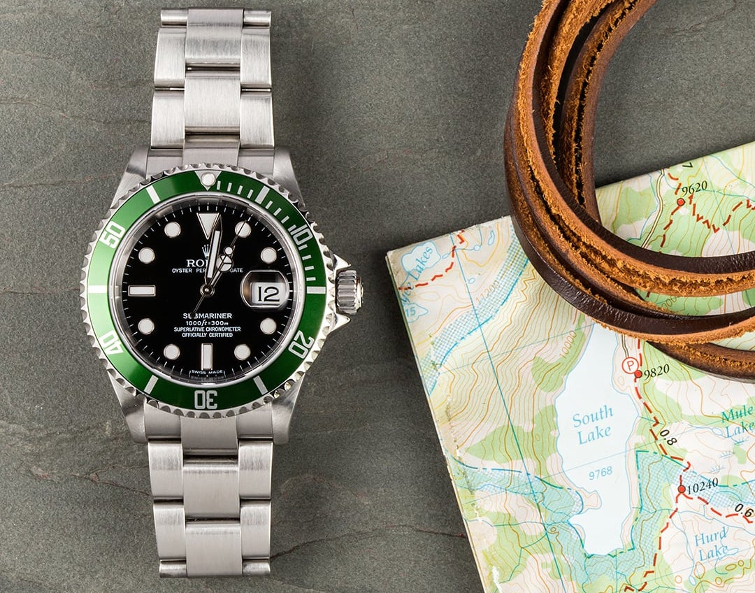 Rolex Submariner with a black dial and green bezel makes for a great watch on any occasion.