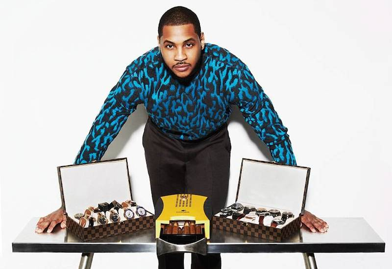 Inside Carmelo Anthony's collection, he holds Rolex Sky-Dwellers, Yacht-Masters, and Day-Dates.