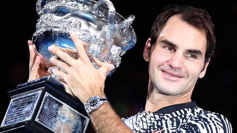 Roger Federer won his 18th Grand Slam title.