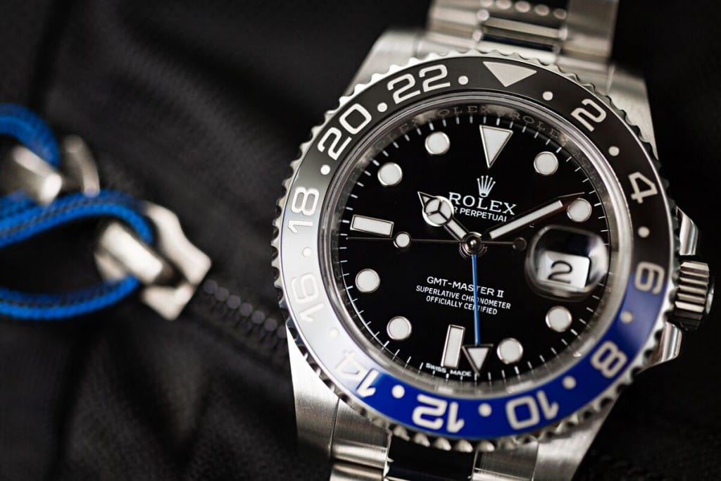 This GMT Batman is from Bob's Watches, and is favored over an Apple watch.