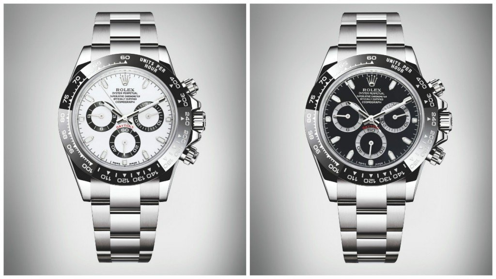 The white face of the Steel Daytona is reminiscent of the Paul Newman Panda.