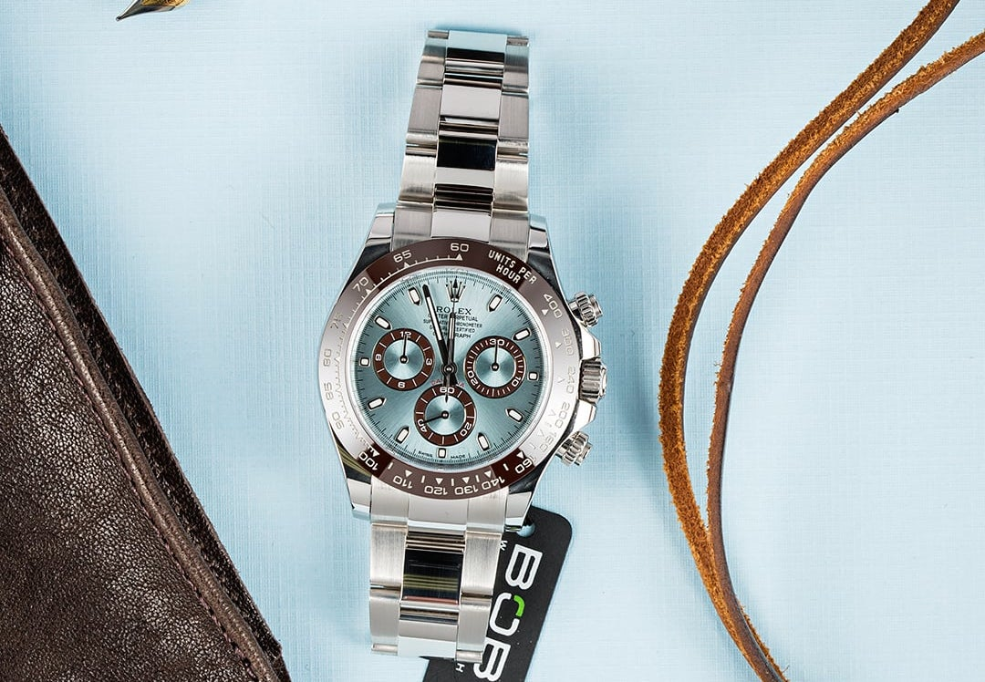 This Rolex Daytona ref 116506 is made of platinum.