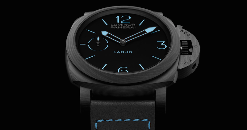 The Panerai Luminor 1950 Carbotech PAM00700 is made of a carbon fiber composite.