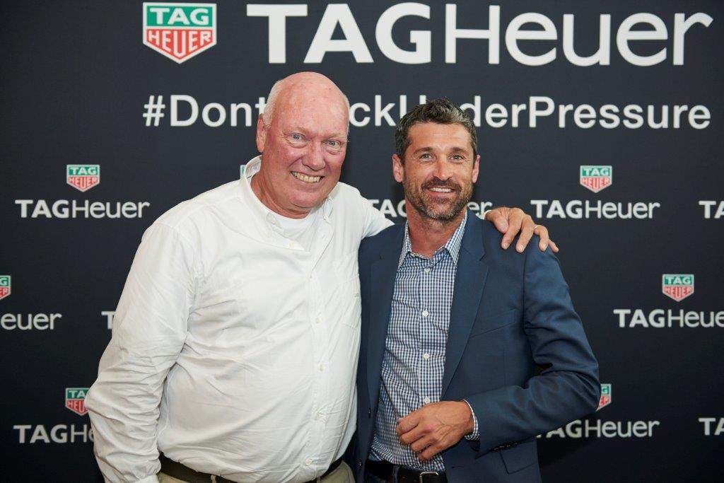 Biver and Patrick Dempsey at a conference