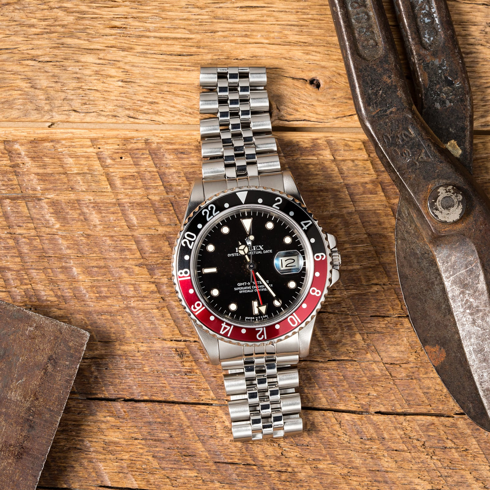 "This ""Fat Lady"" is a Rolex GMT-Master II from Bob's Watches."