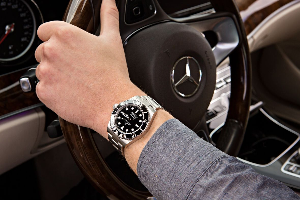 Mercedes Hands Rolex Submariner No-Date Stainless Steel