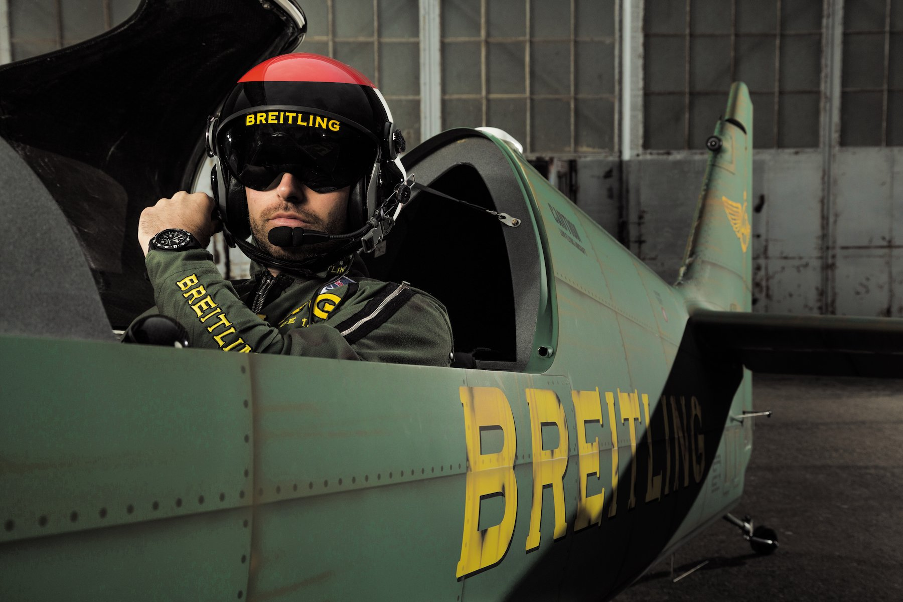 Mika Brageot and his Breitling.